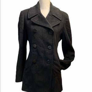Calvin Klein double breasted wool&Silk blend coat